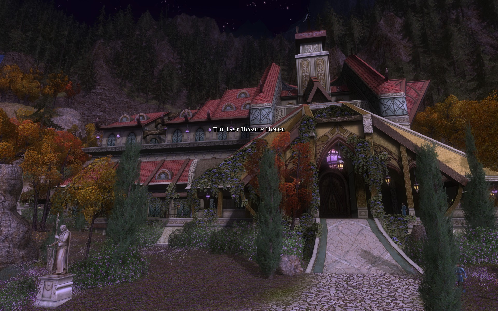 『ロード・オブ・ザ・リングス オンライン』における「最後の憩」館外観