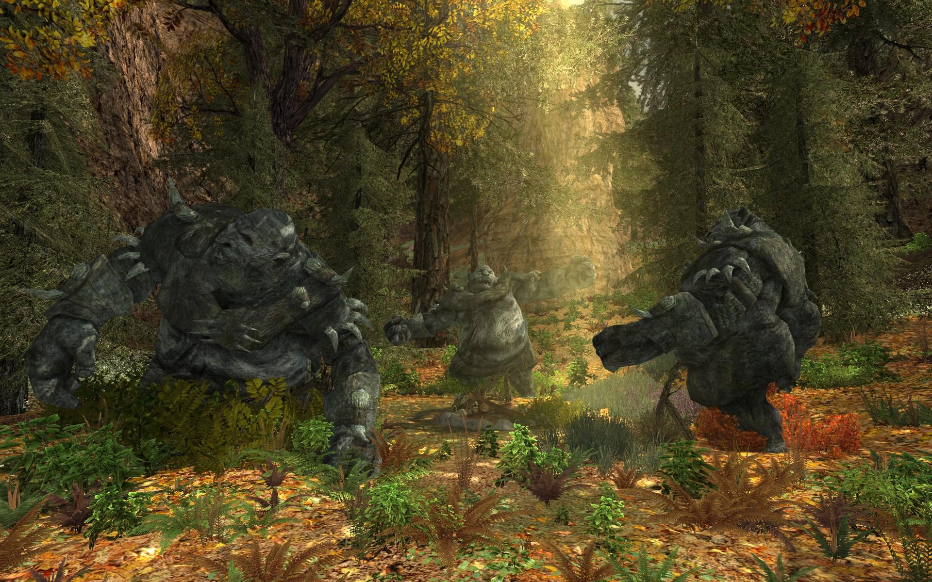 『ロード・オブ・ザ・リングス オンライン』における3人のトロルの石像