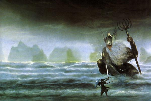 ジョン・ハウ作画によるウルモとトゥオル