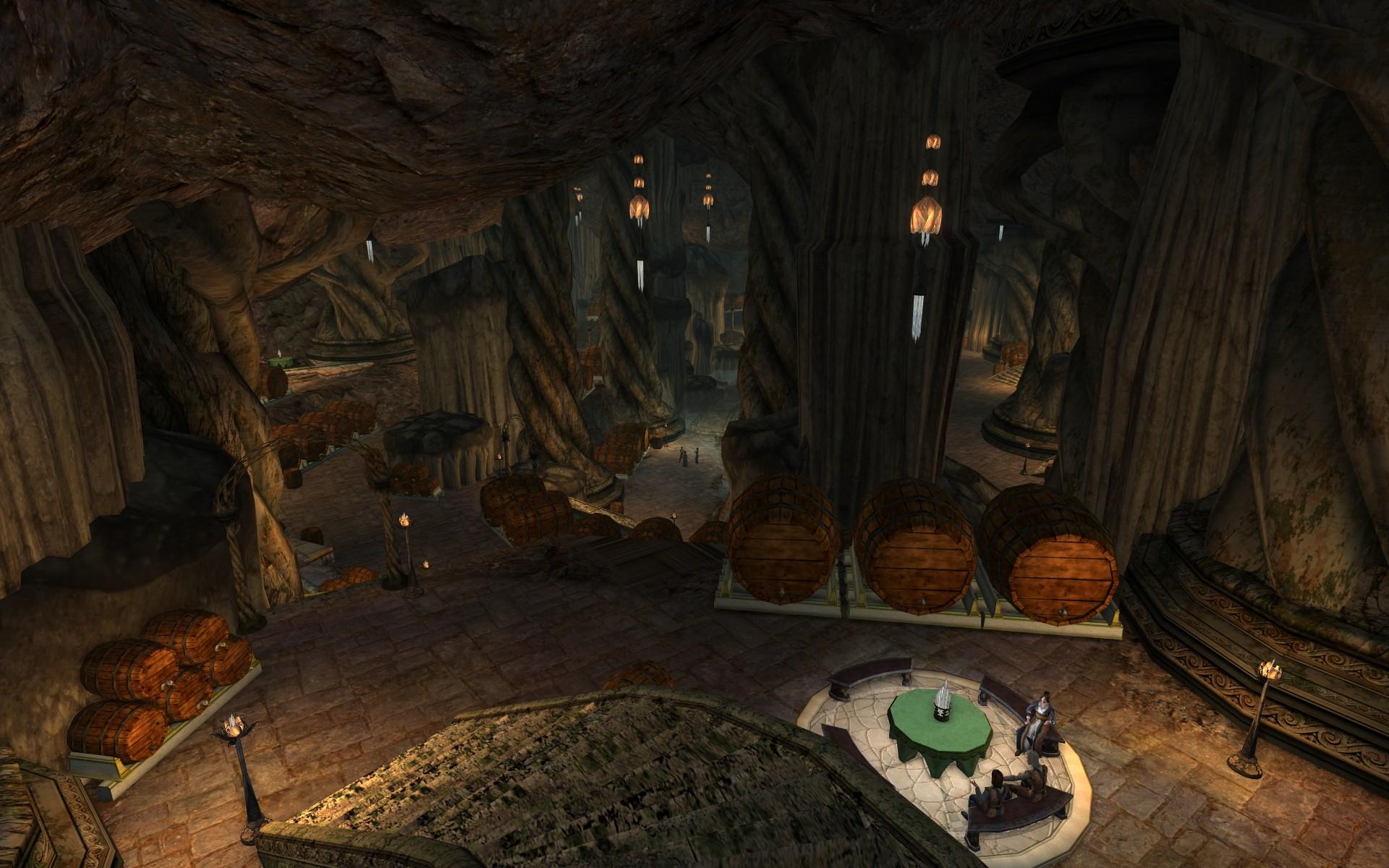 『ロード・オブ・ザ・リングス オンライン』におけるエルフ王の岩屋のワインセラー