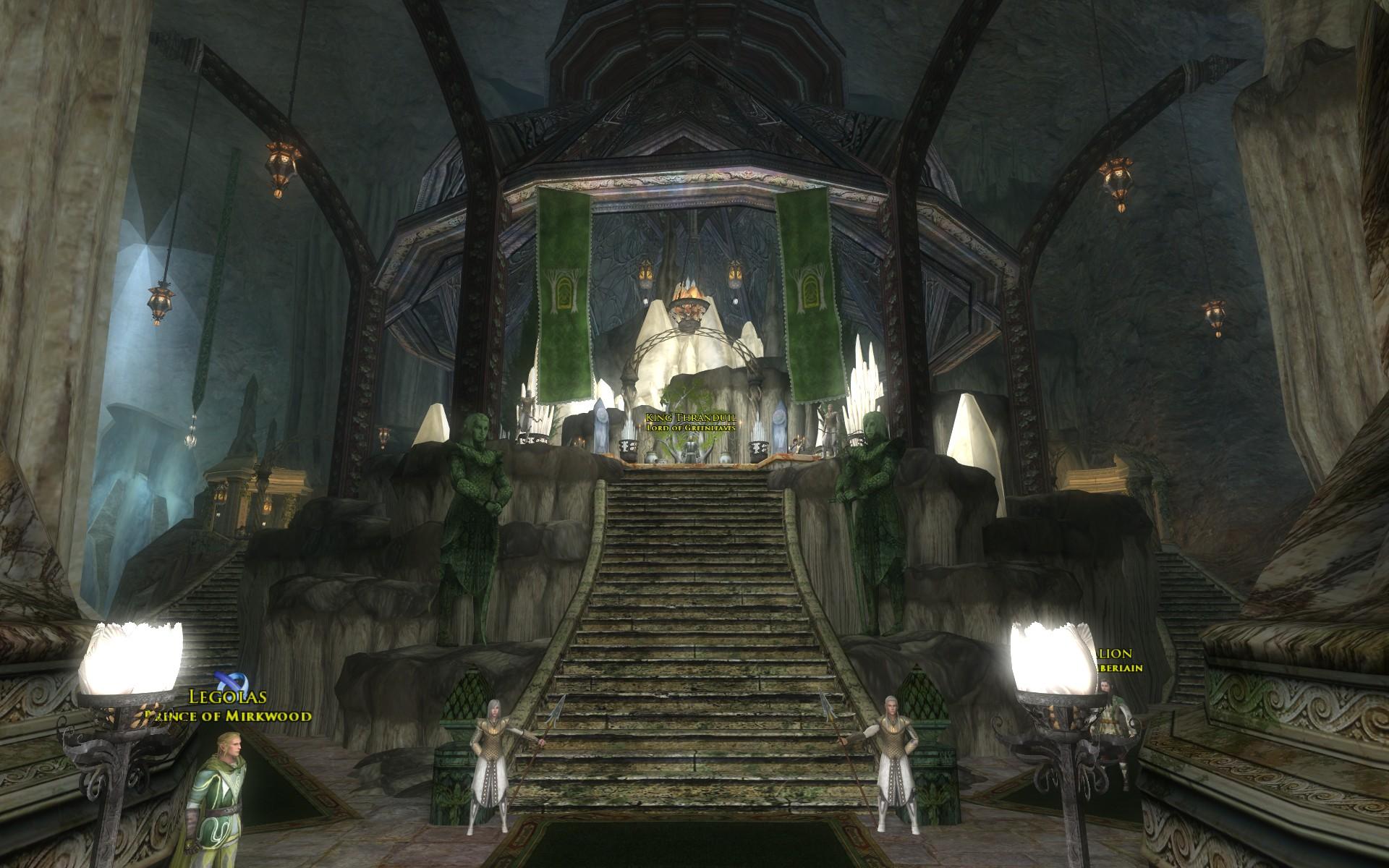 『ロード・オブ・ザ・リングス オンライン』におけるエルフ王の岩屋の王の間
