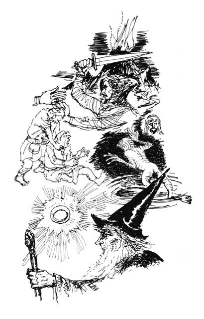 寺島龍一作画によるガンダルフ(指輪物語)