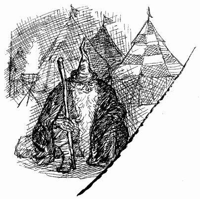 寺島龍一作画によるガンダルフ(ホビットの冒険)