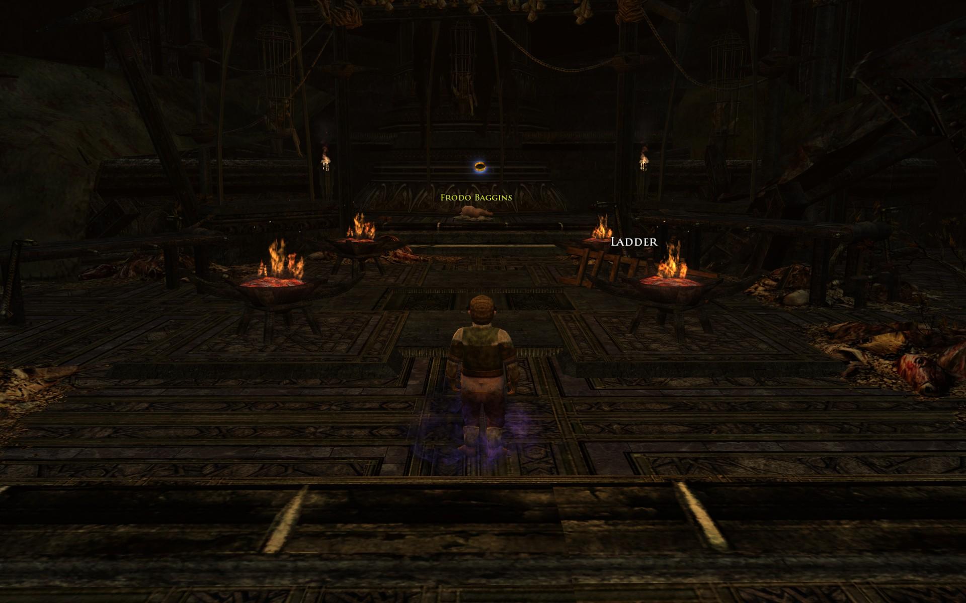『ロード・オブ・ザ・リングス オンライン』におけるキリス・ウンゴルの塔屋上(サムがフロドを救出する場面)