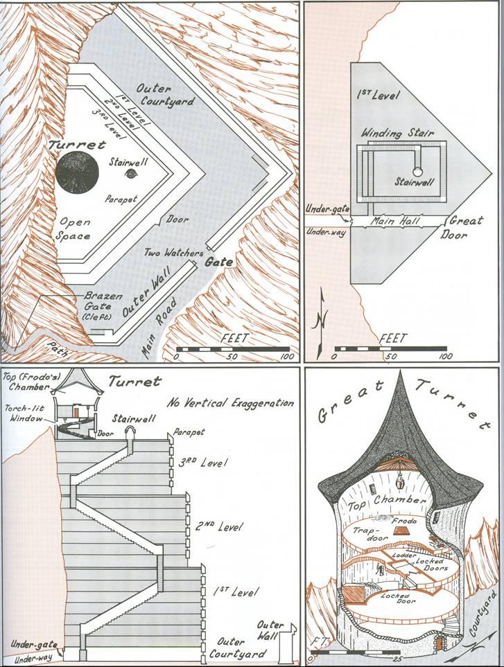 『「中つ国」歴史地図 トールキン世界のすべて』の解説図