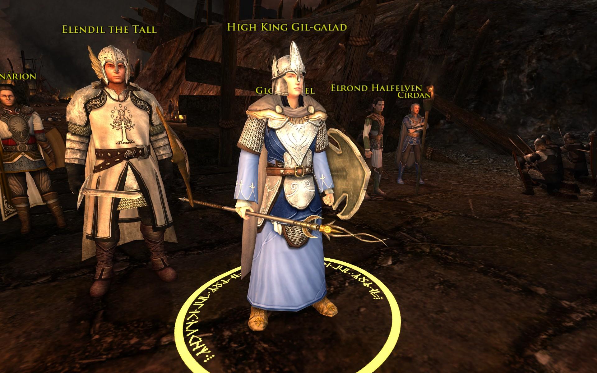 『ロード・オブ・ザ・リングス オンライン』における、最後の同盟の戦いでのギル=ガラド