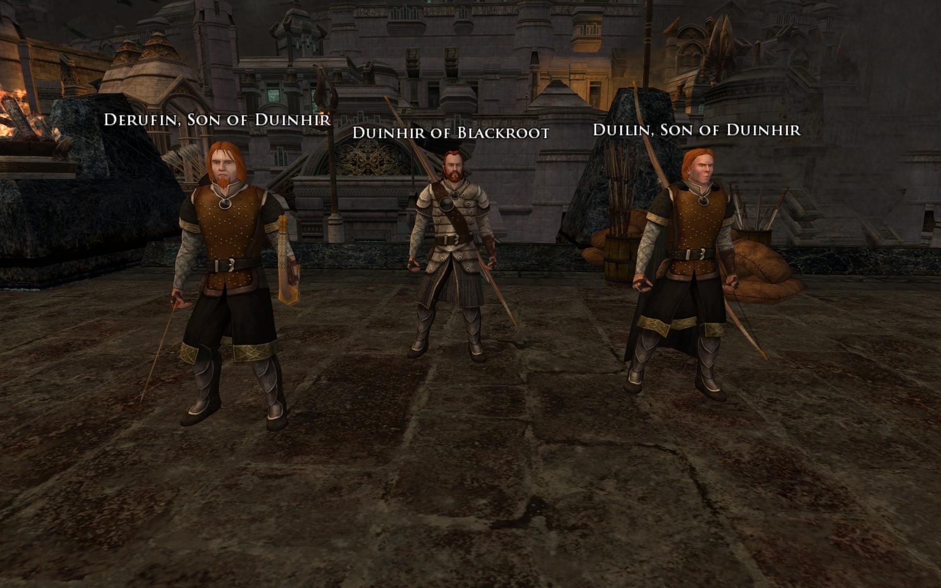 『ロード・オブ・ザ・リングス オンライン』におけるドゥインヒア、ドゥイリン、デルフィン
