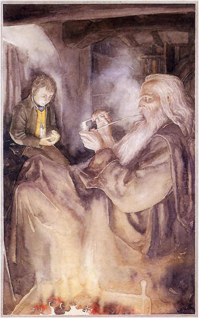 アラン・リー作画によるフロドとガンダルフ