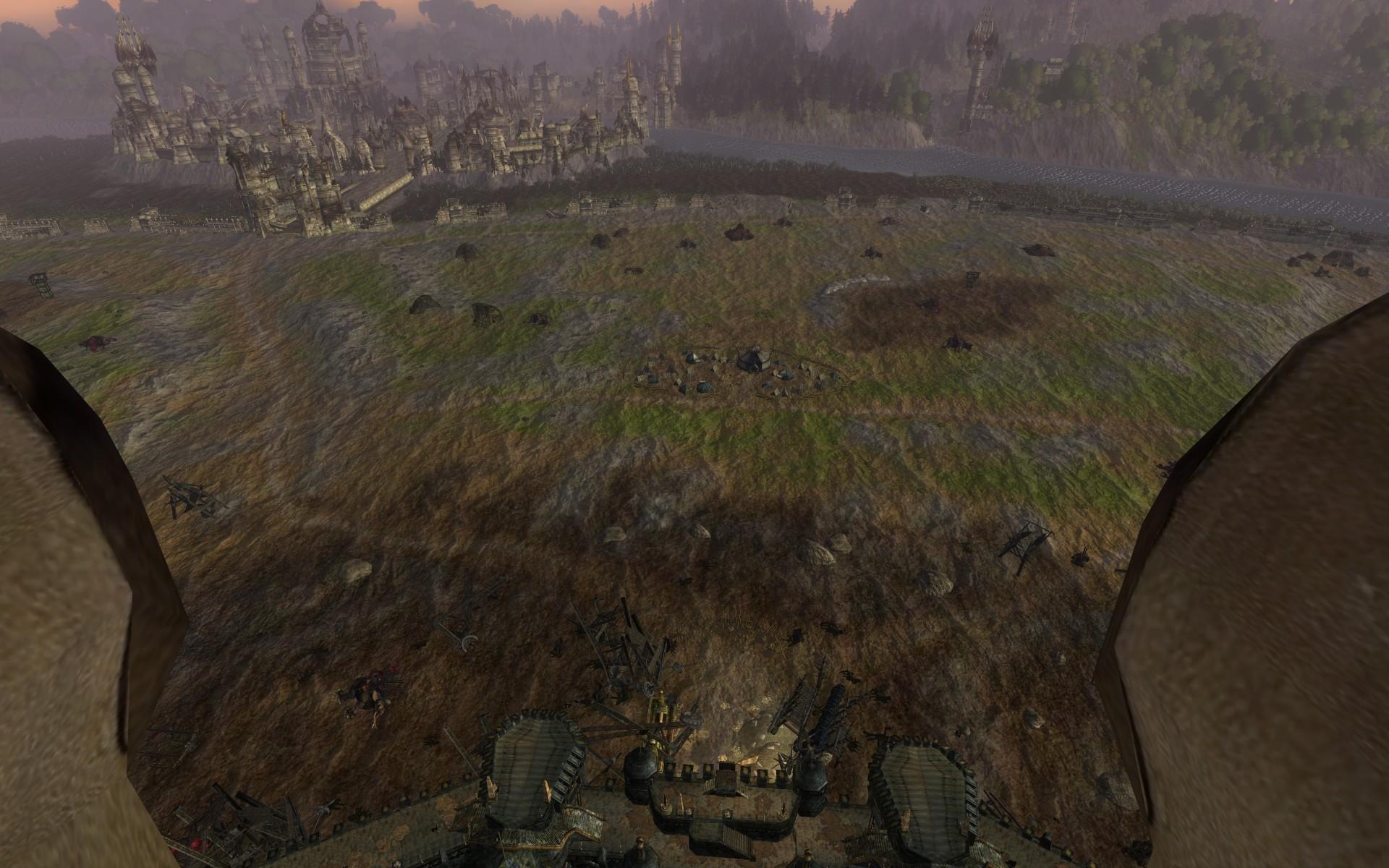 『ロード・オブ・ザ・リングス オンライン』におけるペレンノール(ペレンノール野の合戦後、左手奥はオスギリアス)