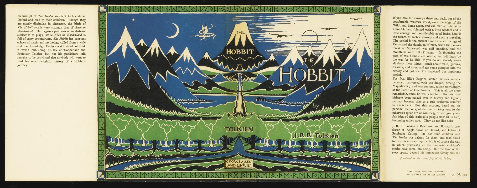 アレン・アンド・アンウィン社初版(1937)のカバー