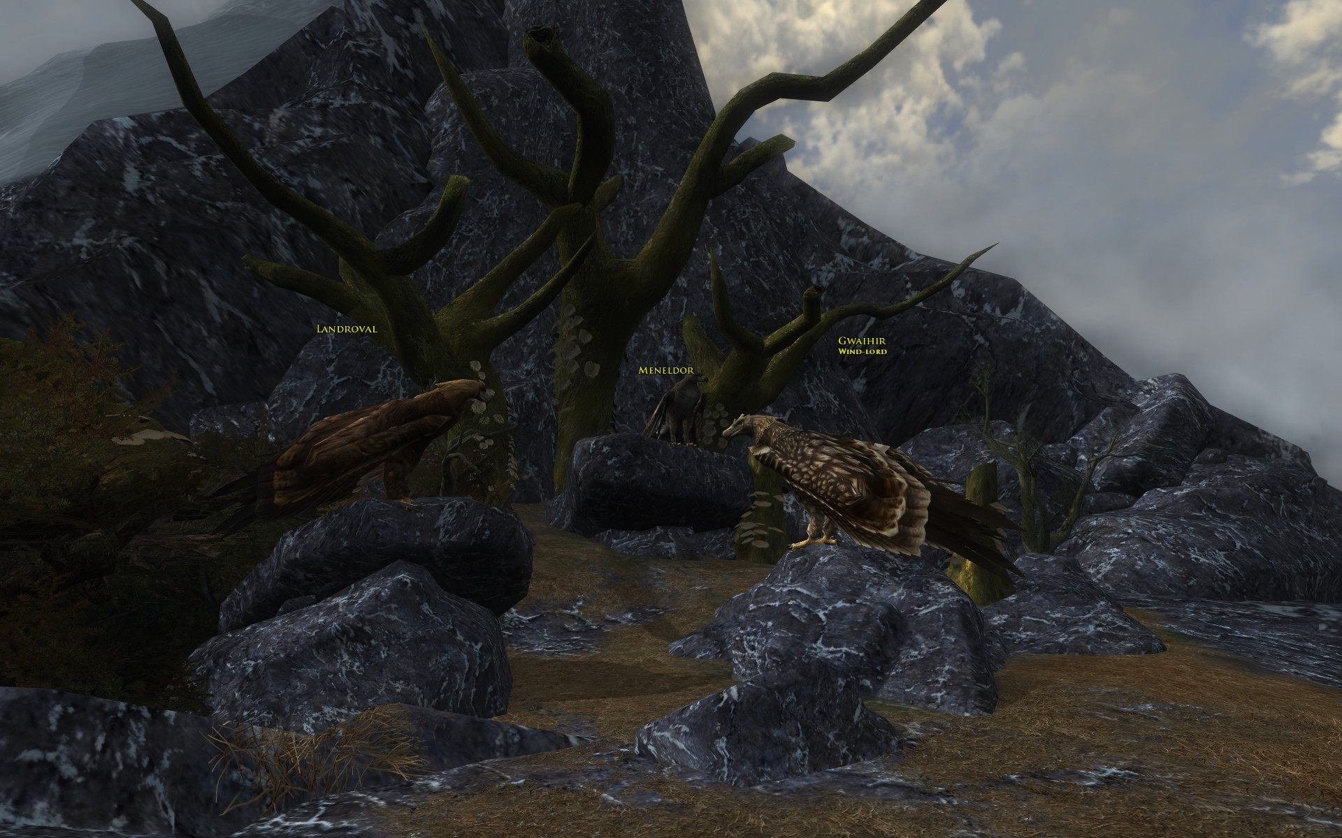 『ロード・オブ・ザ・リングス オンライン』におけるワシの巣のグワイヒア、ランドローヴァル、メネルドール