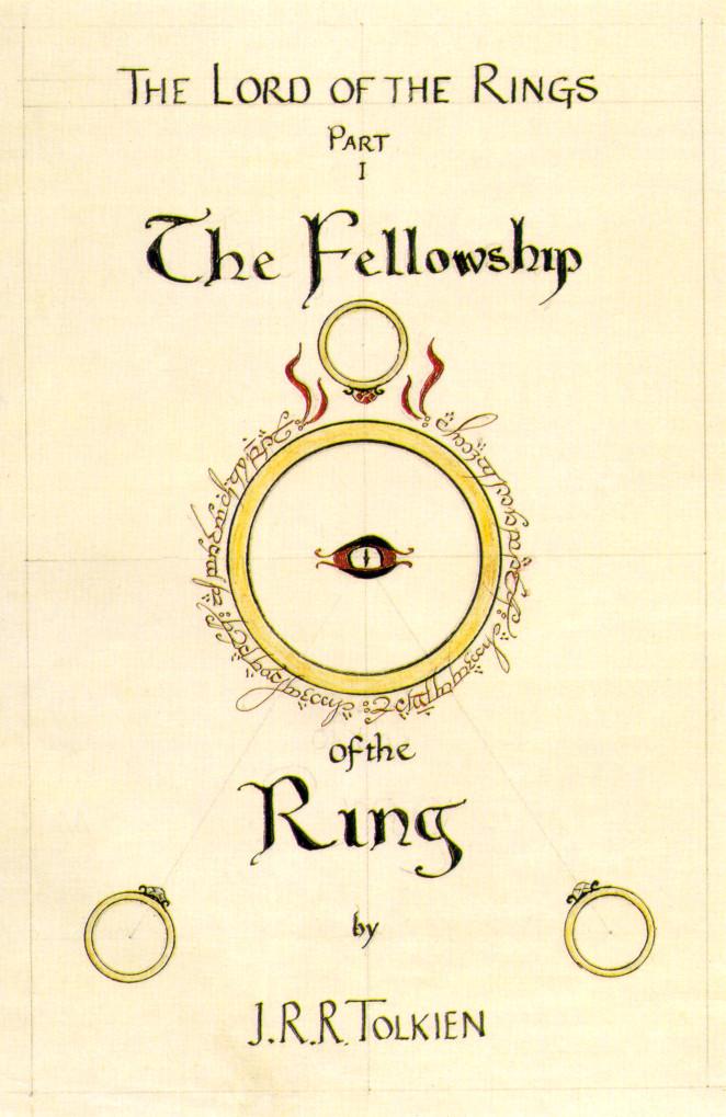 トールキンがデザインした『旅の仲間』のカバー・イラスト(2)
