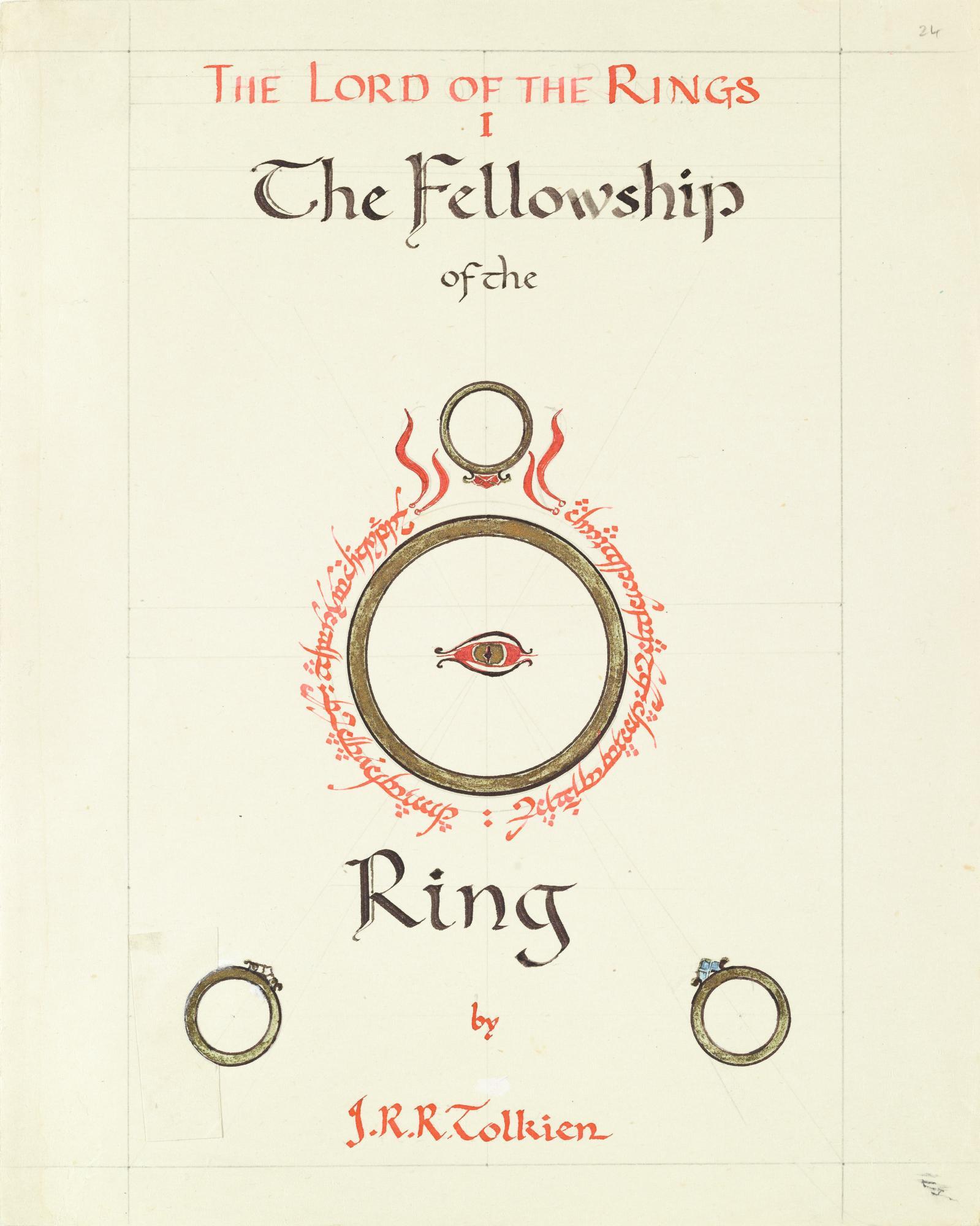 トールキンがデザインした『旅の仲間』のカバー・イラスト(3)