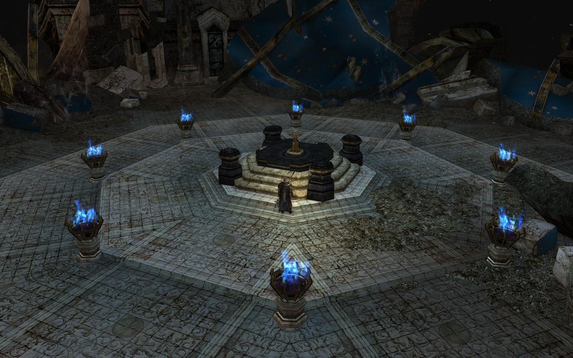 『ロード・オブ・ザ・リングス オンライン』による星辰殿の、パランティーアが置かれていた場所