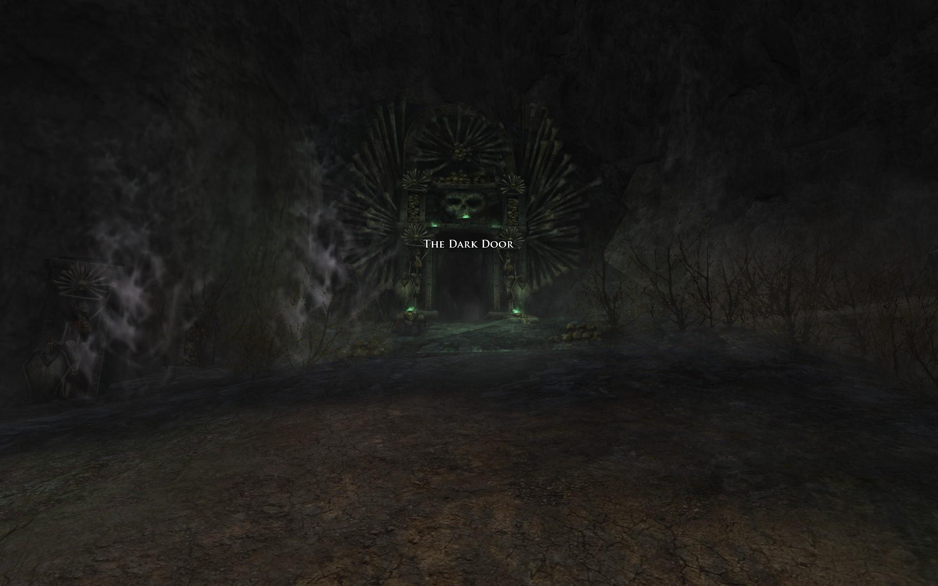 『ロード・オブ・ザ・リングス オンライン』における死者の道の入り口(馬鍬砦側)