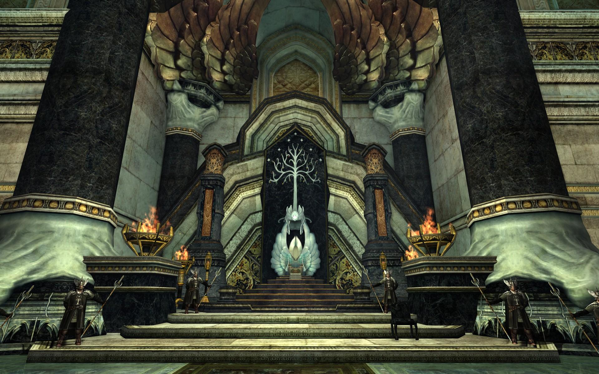 『ロード・オブ・ザ・リングス オンライン』における白の塔の玉座と執政の椅子