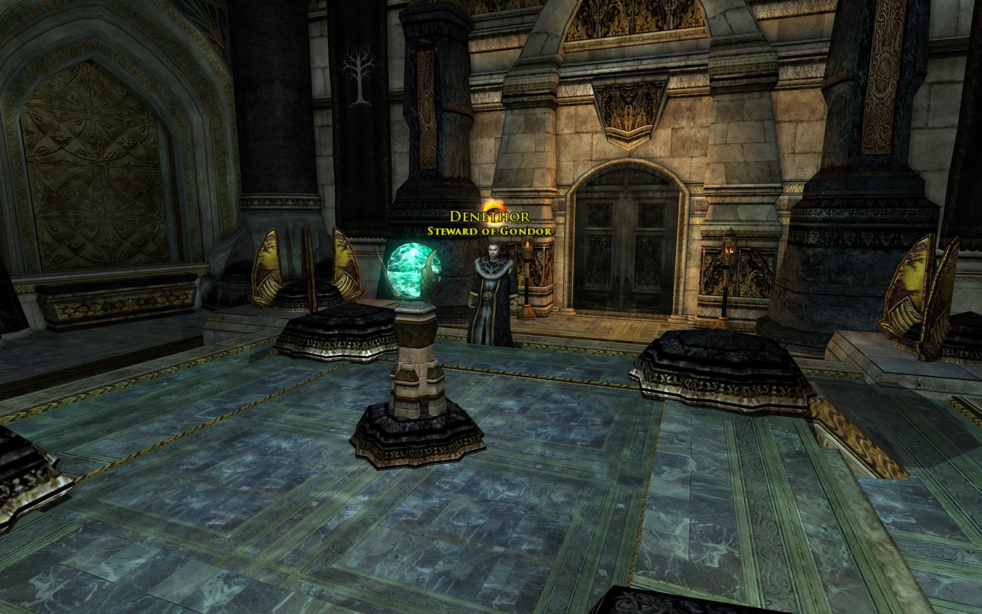 『ロード・オブ・ザ・リングス オンライン』における白の塔のパランティーアの部屋(secret chamber high in the Tower of Ecthelion)