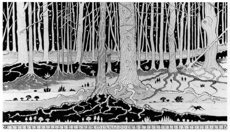 トールキン作画「闇の森」