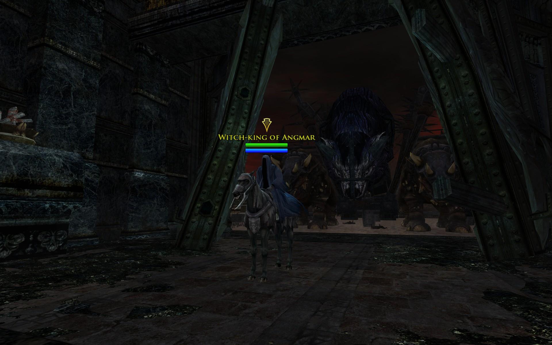 『ロード・オブ・ザ・リングス オンライン』における、ミナス・ティリスに入場した魔王